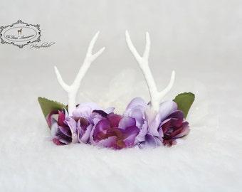 antler headband,newborn antlers,light purple headband,woodland,nature inspired,photo prop, photo session,newborn headband
