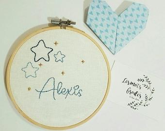 Embroidery star name / Word custom