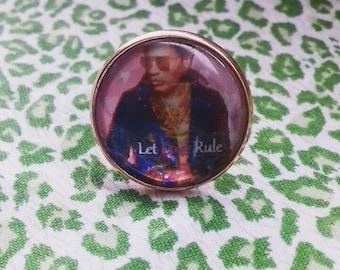 Lenny Kravitz 'Let Love Rule' rose gold ring
