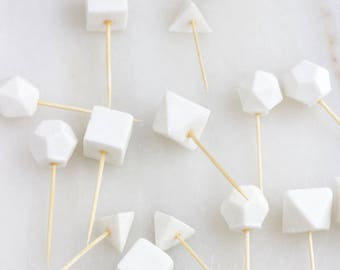 Geometric Cupcake Toppers, Wedding Geometric Cake Toppers, Fondant Toppers, Edible Fondant Toppers, Cupcake Toppers