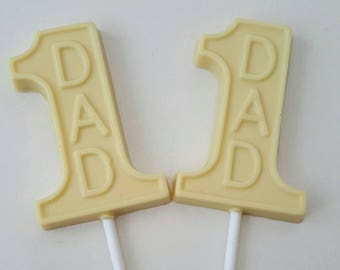 Fathers Day Dad Chocolate Lolly