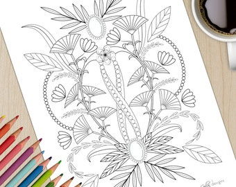 Printable Adult Colouring Page Imperial