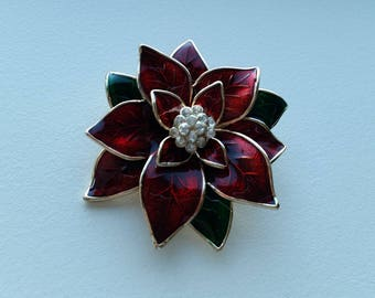 Poinsettia Brooch by Jones New York