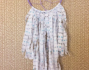 "5"" Lilac Triangle Print Dream Catcher. Boho. Bohemian. Gypsy. Wall Hanging."