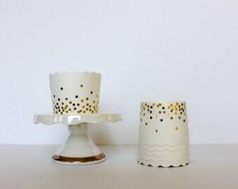 Gold Confetti Treat Cups / Gold Treat Cups / Treat Cups / Baking Cups / Confetti / Gold Baking Cups
