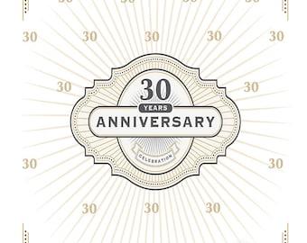 Classic Anniversary Custom Printed Backdrop (WED-VS-007)
