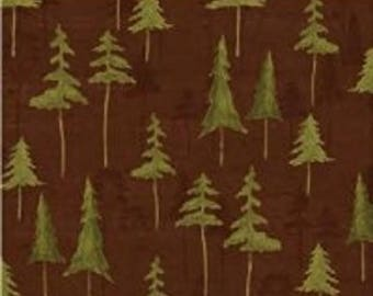 "Daphne B for Windham Fabrics   Wild Woods Collection  ""Trees"" Brown"