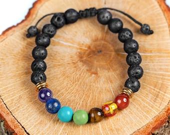 Adjustable 7 Chakra Diffuser Bracelet