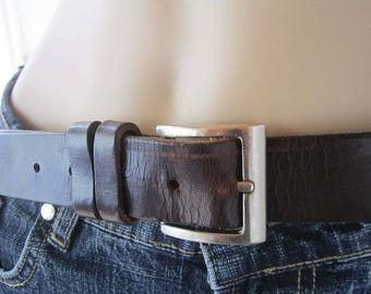 Vintage 70s leather belt leather belt Steven Harper unisex