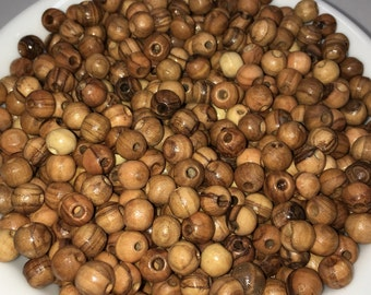 8mm Olive Wood Beads, Wooden Beads, Olive Wood, Natural Wood, Wood Beads,