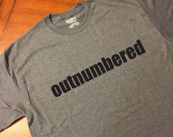 Dad of girls tee - Outnumbered