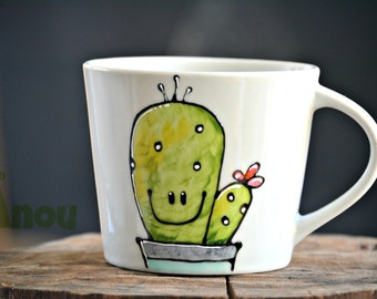 Small cup Mr. cactus to customize