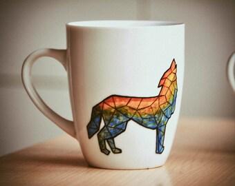 Une tasse de café géométrique Wolf 350 ml couleur