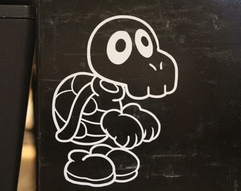 Mario Dry Bones Koopa Troopa Skeleton Decal Any Size Any Colors