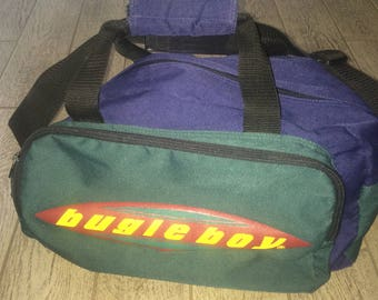 Vintage Bugle Boy Duffle Bag Color Blocking 90s Theme Very Cool Great Condition