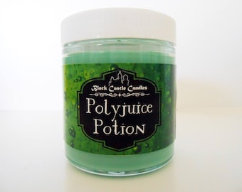 Polyjuice Potion Candle - Harry Potter Inspired -  Black Castle Candles - Soy-blend Wax - 4 oz Container