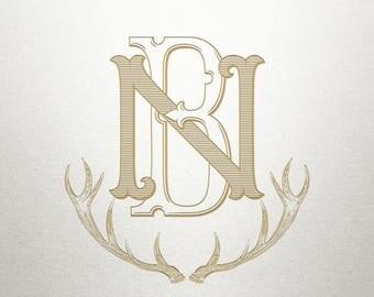 Monogram Antler Design  - Madison Antlers-  Antler Design - Digital