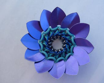 Spiral Scale Flowers, Chainmail Flowers, Flower Decoration