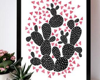 Illustration print Cactus