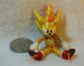 Super Sonic Bead-doll (polymer clay)