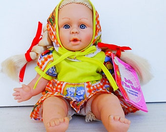 Dolls of the world toy 9 inch native Brazilian fabric doll toy expression doll bean bag doll toy collectible vintage 1997 new with tags