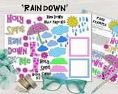 """Printable Bible Journaling Page Kit - """"Rain Down"""" - Complete kit for Bible Pages or Journals. Fits all Journaling Bibles."""