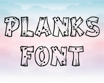 Wood plank letters SVG, Plank alphabet, Cricut design, Silhouette Font, Pattern letters, DIY vinyl craft file, digital font, PNG letter