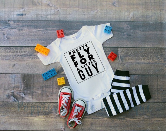 Pretty Fly For A Little Guy Tee, Hipster Baby, Boys' Clothing,Boys' Bodysuit,  Funny Boys' Tee, Baby Shower Gift
