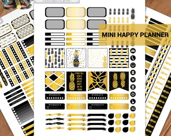 MINI Happy Planner Stickers,Pineapple, Planner kit, Monthly/Weekly Kit,Personal planner,Planner stickers, Happy Planner Kit,Instant download