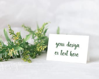 Wedding Place Cards / Reserved Seating Cards / Place Cards Blanck / Place Card Template /Stock Photography / Product Mockup / High Res File