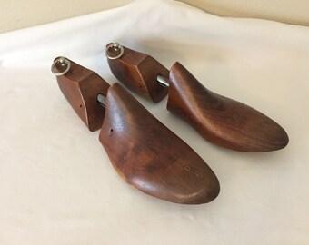 Shoe Trees, Old Shoe forms, Vintage Shoe Stretchers, Closet Decor