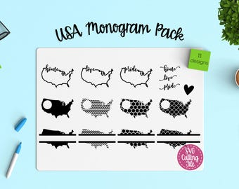 11 USA svg - USA map - United States - America svg - USA Monogram svg - Usa Decal - United State svg - 4th of July