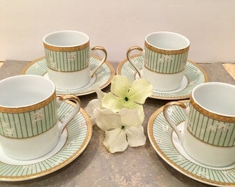 MCS Porzellanfabrik  Ttrschenreuth  Bavaria  Design from Germany Tigre Yedi Mini Cup and Saucer.