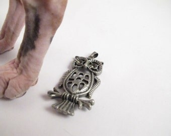 Wise Great Owl Pendant Charm