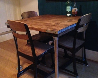 industrial style dining table 90x90