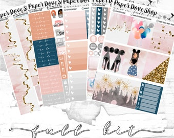 Aurora Full Kit-- ECLP Vertical, Decorative Stickers, Planner Stickers, Princess/Castle Kit