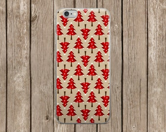 Red Christmas Trees Design iPhone Case | iPhone 5/5s/SE | iPhone 6/6s | iPhone 6 Plus/6s Plus |  iPhone 7 | iPhone 7 Plus