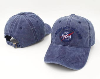 Vintage blue embroidered nasa 'I need my space' dad hat