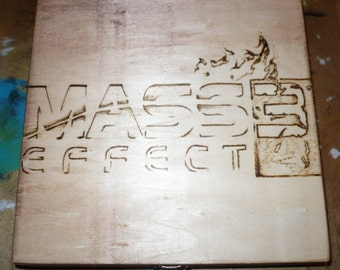 Mass Effect Woodburned Box With Tea