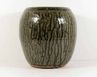 Clete Meaders Signed 1997 Alkaline Glazed Stoneware/Pottery Jar