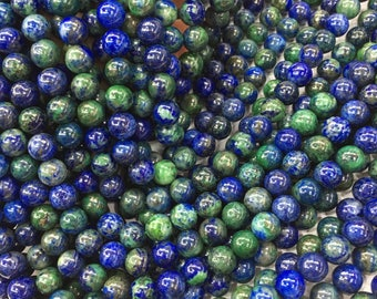 1Full Strand Azurite Jasper Beads 6mm 8mm 10mm Wholesale Gemstone For Jewelry Making