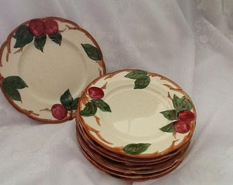 Vintage Franciscan Apple Ware Luncheon Plates