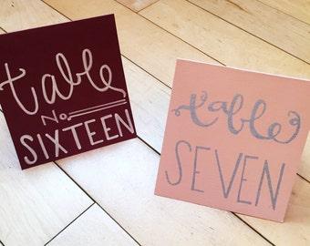 Custom Wedding Table Place Cards
