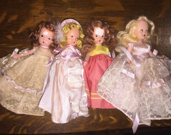 Nancy Ann Story Book Dolls NASB Lot of 4 w/o tags and with issues - see pics