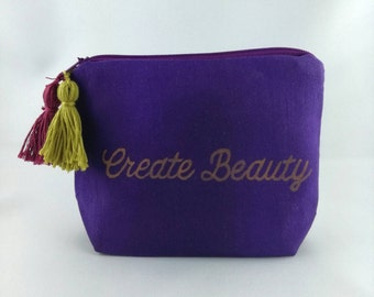 Cosmetic bag Makeup bags makeuptasche midnight purple