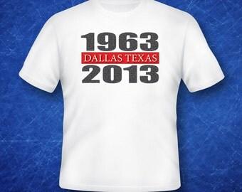 John F. Kennedy Dealey Plaza Commemorative 50th Anniversary T-Shirt
