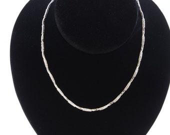 18K White Gold Necklace/Diamond- 1.20ct/Gold- 13Grams