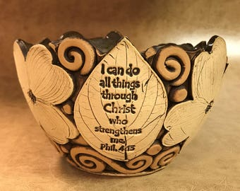 Medium Scripture Dogwood Bowl 41