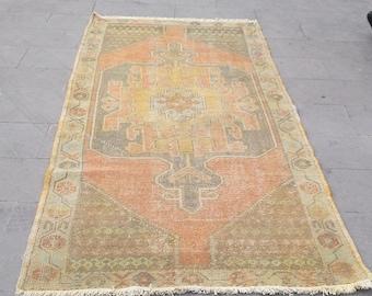 vintage distressed turkish rug  252x120 cm 99.2 x 47.2inches,anatolia rug,wool carpet,tapis turc,teppich,design rug,home decor carpet