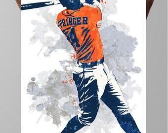 George Springer, Houston Astros Poster, Sport Poster, Wall art, Fan Art